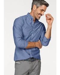 blaues Langarmhemd von Gant