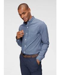 blaues Langarmhemd von Izod