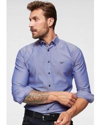 blaues Langarmhemd von Joop Jeans