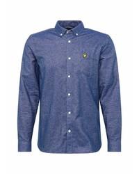blaues Langarmhemd von Lyle & Scott