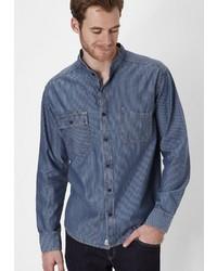 blaues Langarmhemd von PADDOCK´S