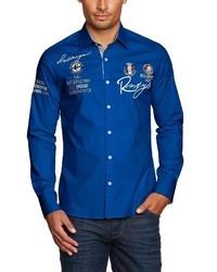 blaues Langarmhemd von Redbridge