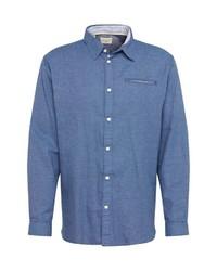 blaues Langarmhemd von Selected Homme