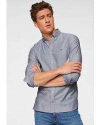 blaues Langarmhemd von Tommy Hilfiger
