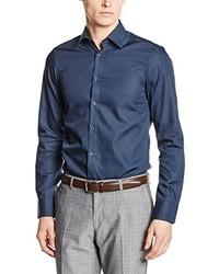 blaues Langarmhemd von Venti