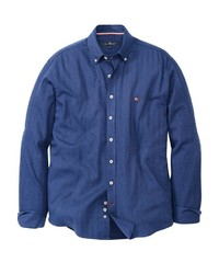 blaues Langarmhemd von Via Cortesa