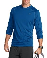 blaues Langarmshirt von Eddie Bauer