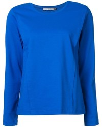 blaues Langarmshirt von Issey Miyake