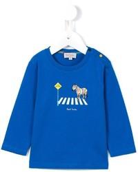 blaues Langarmshirt von Paul Smith