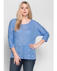 blaues Langarmshirt von SHEEGO CASUAL