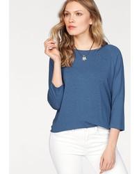 blaues Langarmshirt von Tommy Hilfiger