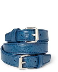 blaues Lederarmband von Balenciaga
