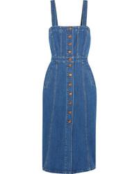 blaues Midikleid aus Jeans von J.Crew