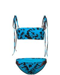 blaues Mit Batikmuster Bikinioberteil von Proenza Schouler