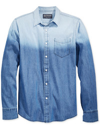 blaues Ombre Jeanshemd