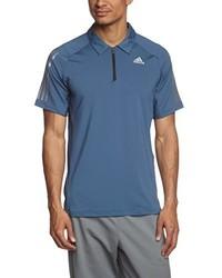 blaues Polohemd von adidas