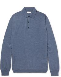 blaues Polohemd von Boglioli