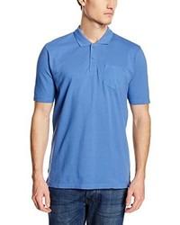 blaues Polohemd von CALAMAR MENSWEAR