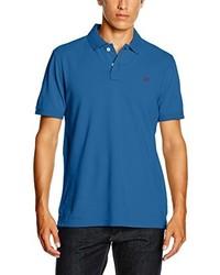 blaues Polohemd von Crew Clothing