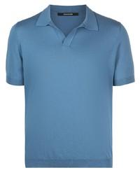 blaues Polohemd von Tagliatore