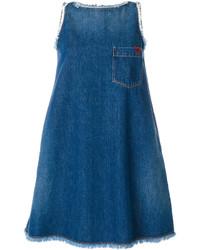 blaues schwingendes Kleid von Love Moschino