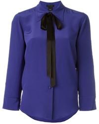 blaues Seidehemd von Marc Jacobs