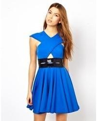 blaues Skaterkleid