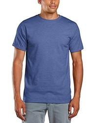 blaues T-Shirt mit einem Rundhalsausschnitt von Anvil