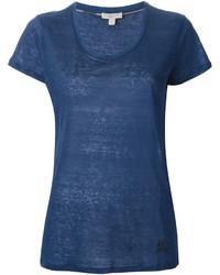 blaues T-Shirt mit einem Rundhalsausschnitt von Burberry