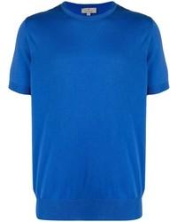 blaues T-Shirt mit einem Rundhalsausschnitt von Canali