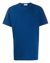 blaues T-Shirt mit einem Rundhalsausschnitt von Closed