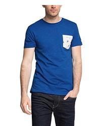 blaues T-Shirt mit einem Rundhalsausschnitt von Esprit