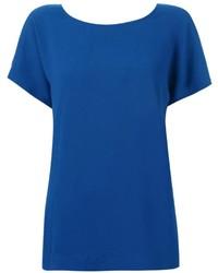 blaues T-Shirt mit einem Rundhalsausschnitt von Issey Miyake