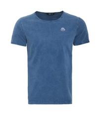 blaues T-Shirt mit einem Rundhalsausschnitt von KINGKEROSIN