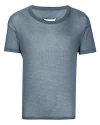 blaues T-Shirt mit einem Rundhalsausschnitt von Maison Margiela