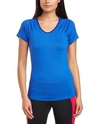 blaues T-Shirt mit einem Rundhalsausschnitt von Nike