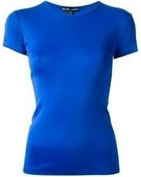 blaues T-Shirt mit einem Rundhalsausschnitt von Ralph Lauren