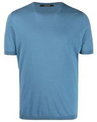 blaues T-Shirt mit einem Rundhalsausschnitt von Tagliatore