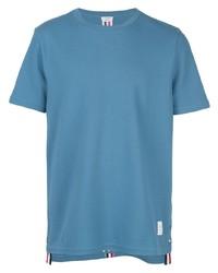 blaues T-Shirt mit einem Rundhalsausschnitt von Thom Browne