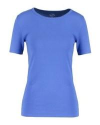 blaues T-Shirt mit einem Rundhalsausschnitt von J.Crew