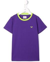 blaues T-shirt von Armani Junior