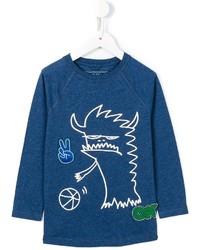 blaues T-shirt von Stella McCartney