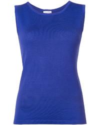 blaues Trägershirt von Oscar de la Renta