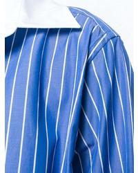 blaues vertikal gestreiftes Businesshemd von Maison Margiela