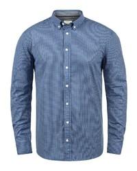 blaues vertikal gestreiftes Langarmhemd von Redefined Rebel