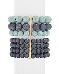 blaues verziert mit Perlen Armband