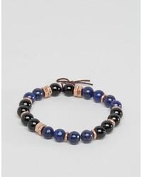 blaues Perlen Armband von Icon Brand