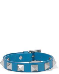 blaues verziertes Lederarmband von Valentino
