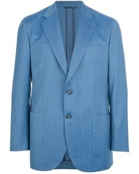 blaues Wollsakko