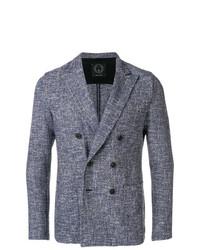 blaues Zweireiher-Sakko von T Jacket
